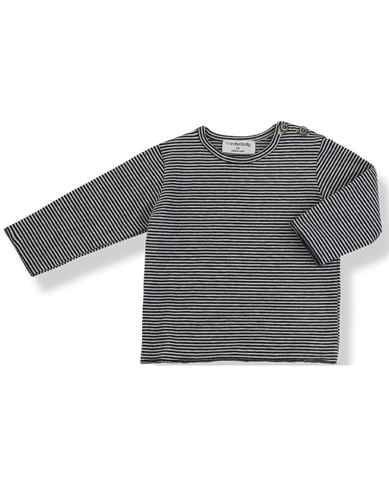 1 + In the Family Yago - long sleeve t-shirt - blue notte