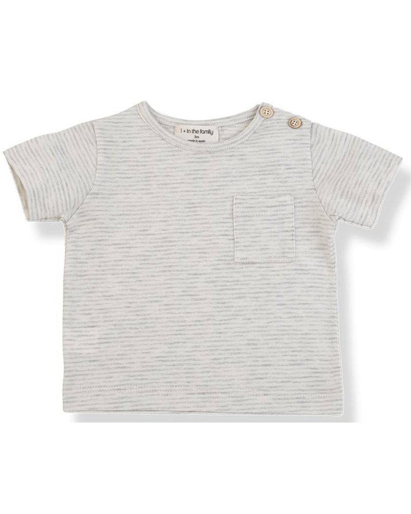 1 + In the Family Albert - s.sleeve t-shirt - natural