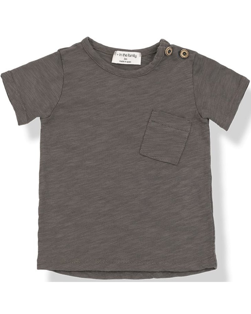 1 + In the Family Judd - s.sleeve t-shirt - cacao