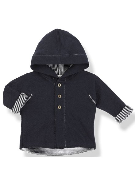 1 + In the Family Barcelo - hood jacket - blu notte