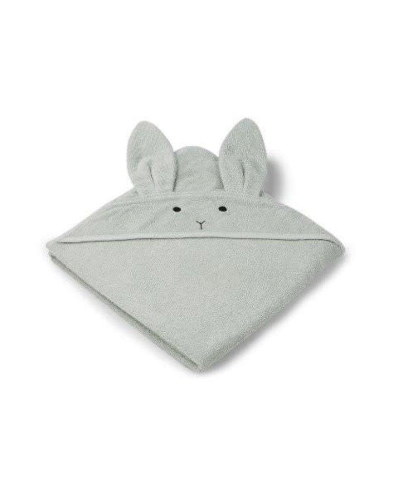 Liewood Augusta towel - Rabbit - dusty mint (100x100 CM)