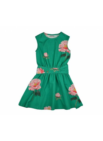 Baba Babywear Tie dress - Peonies