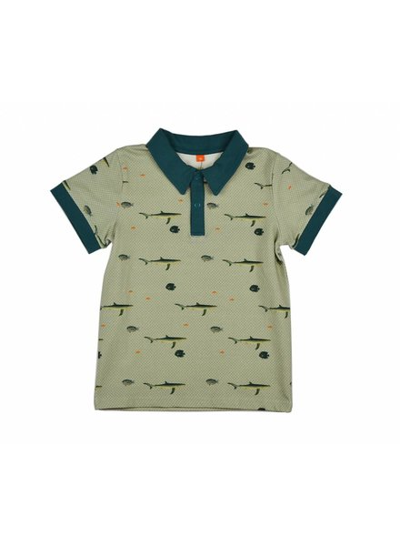 Baba Babywear Polo shirt - fish
