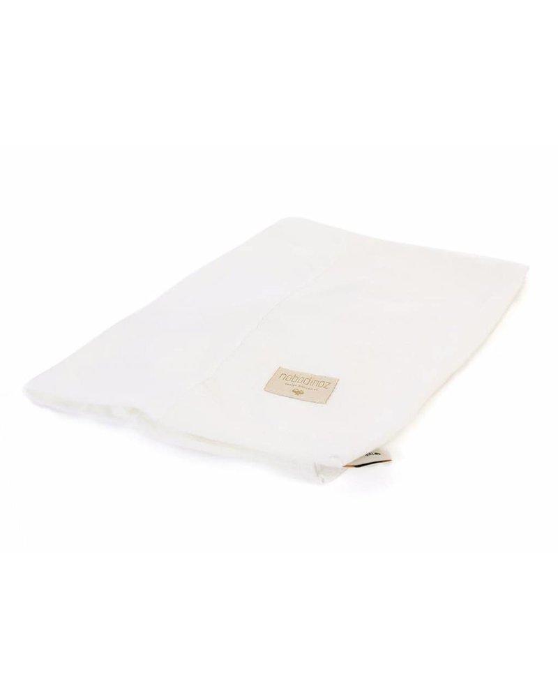 Nobodinoz Changing mat cover Calma honeycomb 70X50 cm - Elements line - White