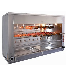 IF Churrasco Grill - 29 Spieße / Gas 18,5kW / Rodiziogrill 29G