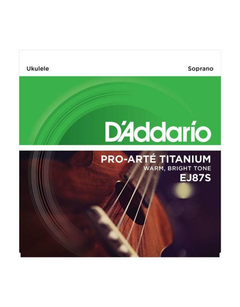 DAddario Soprano Ukulele Titanium, EJ87S
