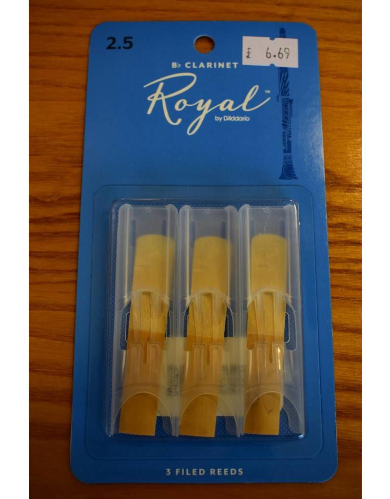 DAddario Woodwinds Royal, Bb Clarinet, 3 Pack, 2.5