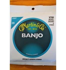 Martin & Co 5 String Banjo, Nickel Wound, Light, V700