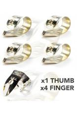DUNLOP Finger & Thumbpick Set, Nickel Silver, 33P.020