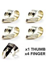 DUNLOP Finger & Thumbpick Set, Nickel Silver, 33P.025