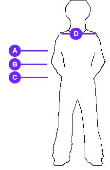 Size Chart Female Male Danae Trans Missie