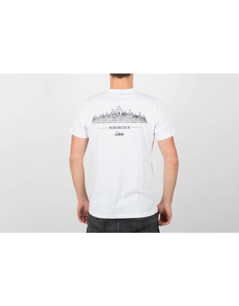 t shirt borobudur white liberly liberly clothing