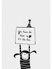 Pomme de Jus riso print you have to kiss me