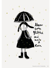 Pomme de Jus riso print glitter rain