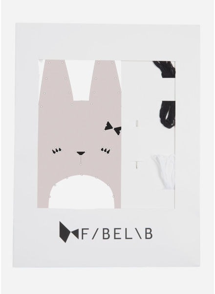 Fabelab animal embroidery kit bunny