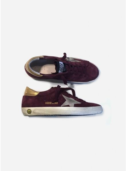 Golden Goose Sneaker bordeaux suede star