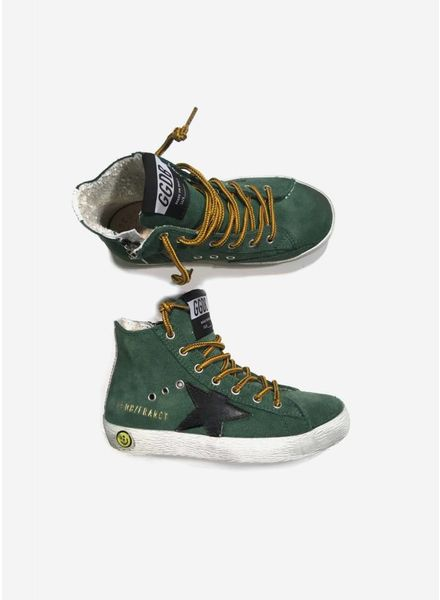 Golden Goose Sneaker green suede mountain