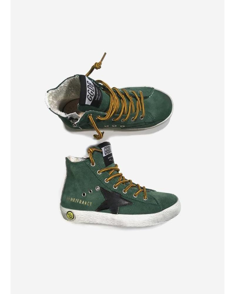 Golden Goose Sneaker green suede mountain