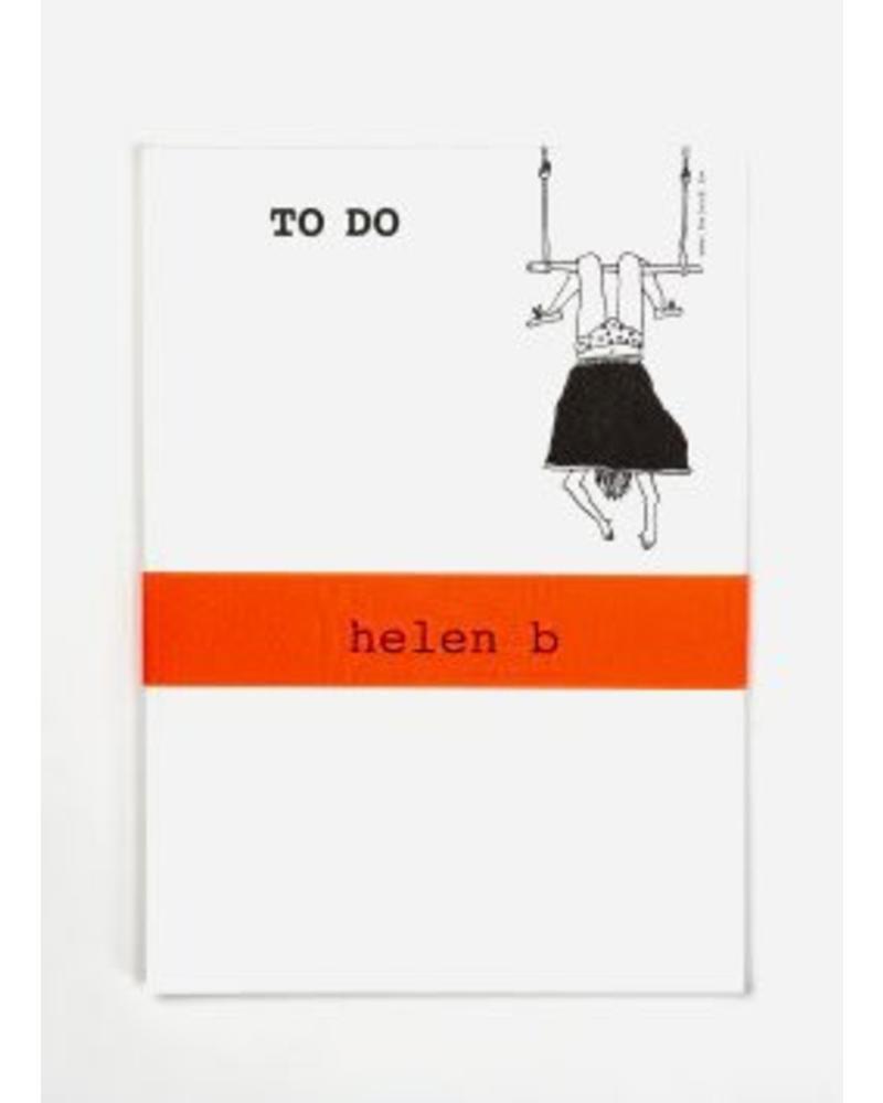 Helen B. Blocknote trapeze girl