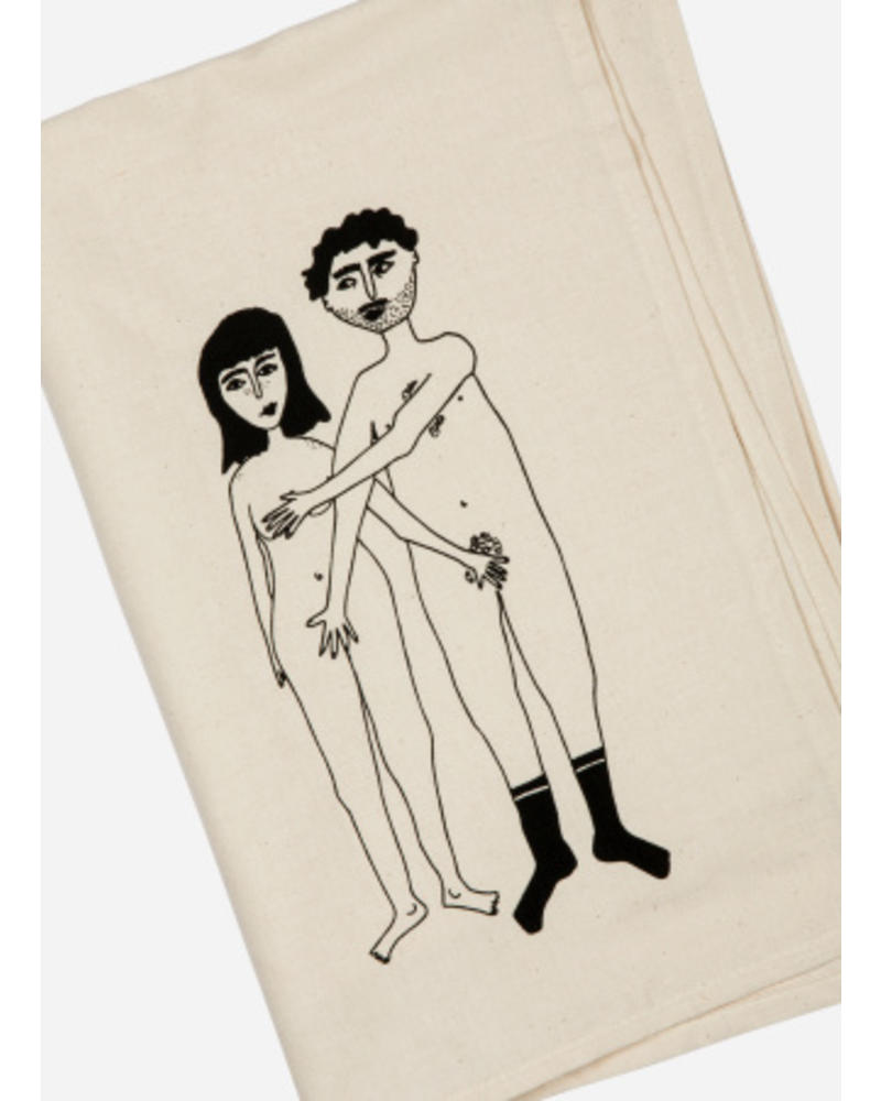 Helen B. Tea towel naked couple