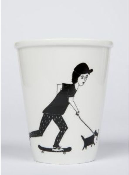 Helen B. cup skating boy and dog