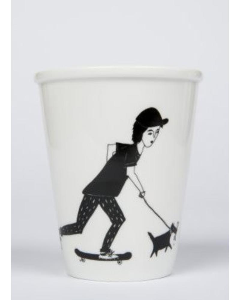 Helen B. cup skating boy and dog