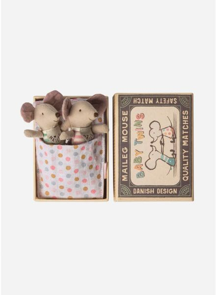 Maileg Mouse, Baby Twins, Mice in box