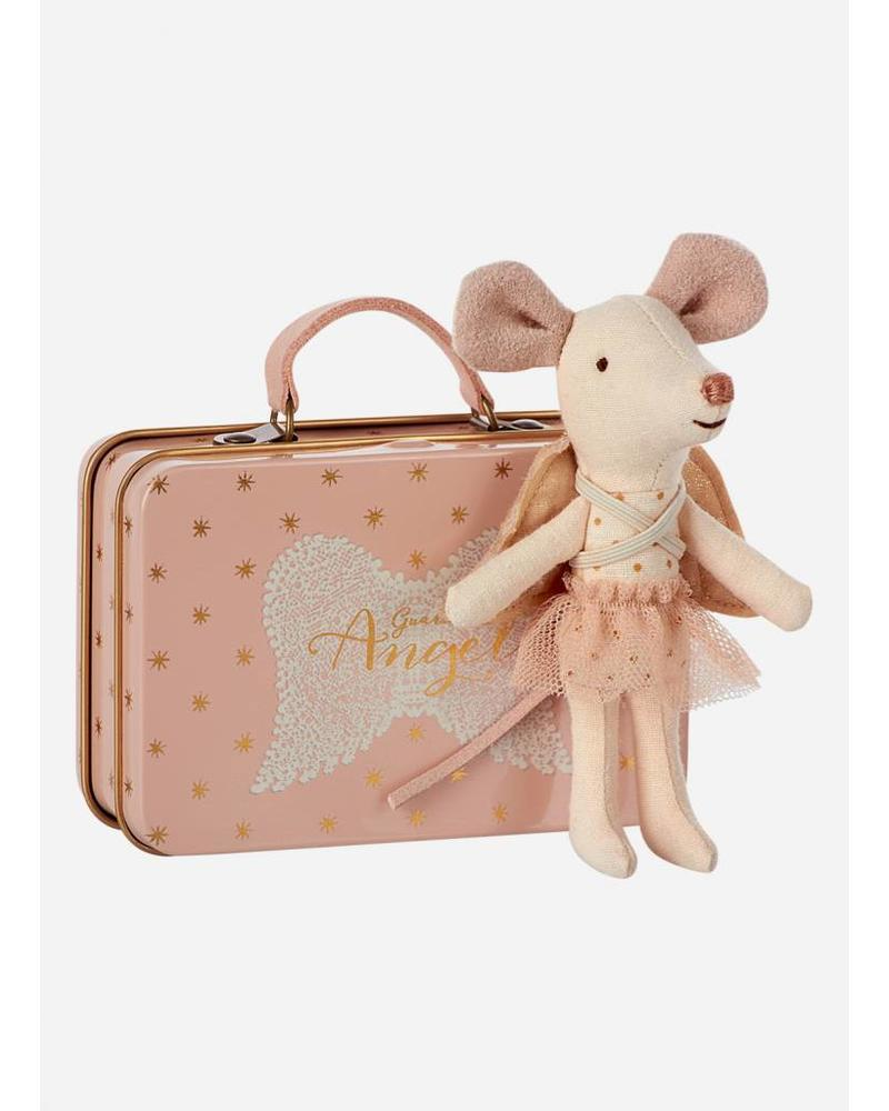 Maileg Mouse, Guardian Angel in suitcase