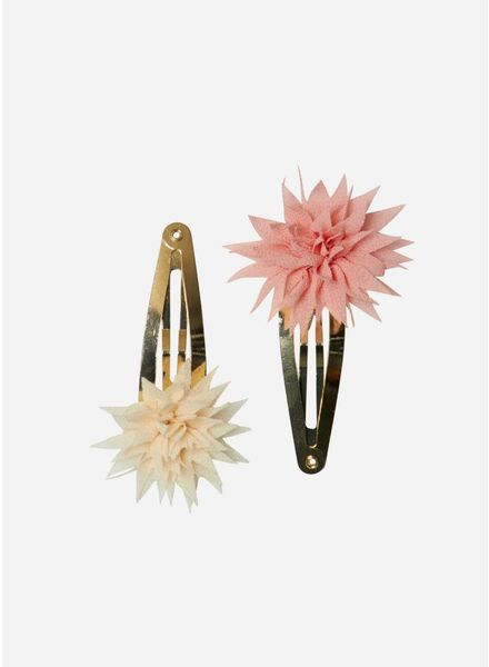 Maileg Dahlia flower clips, vanilla and melon, 2pcs