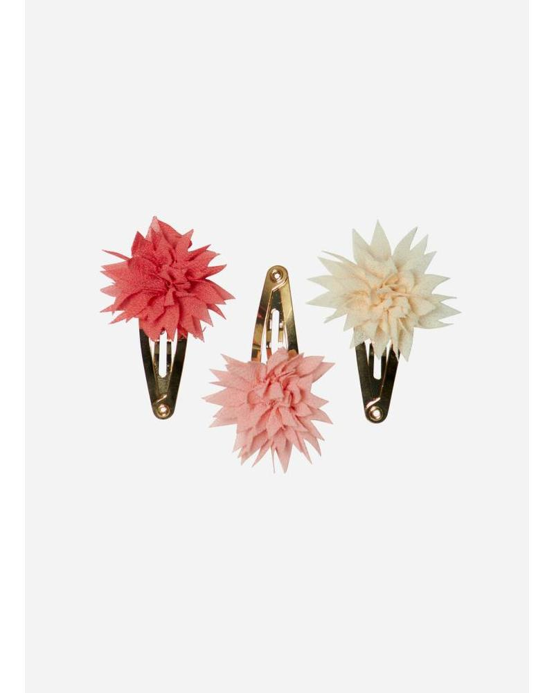 Maileg Dahlia flower clips mini, tricolor berry