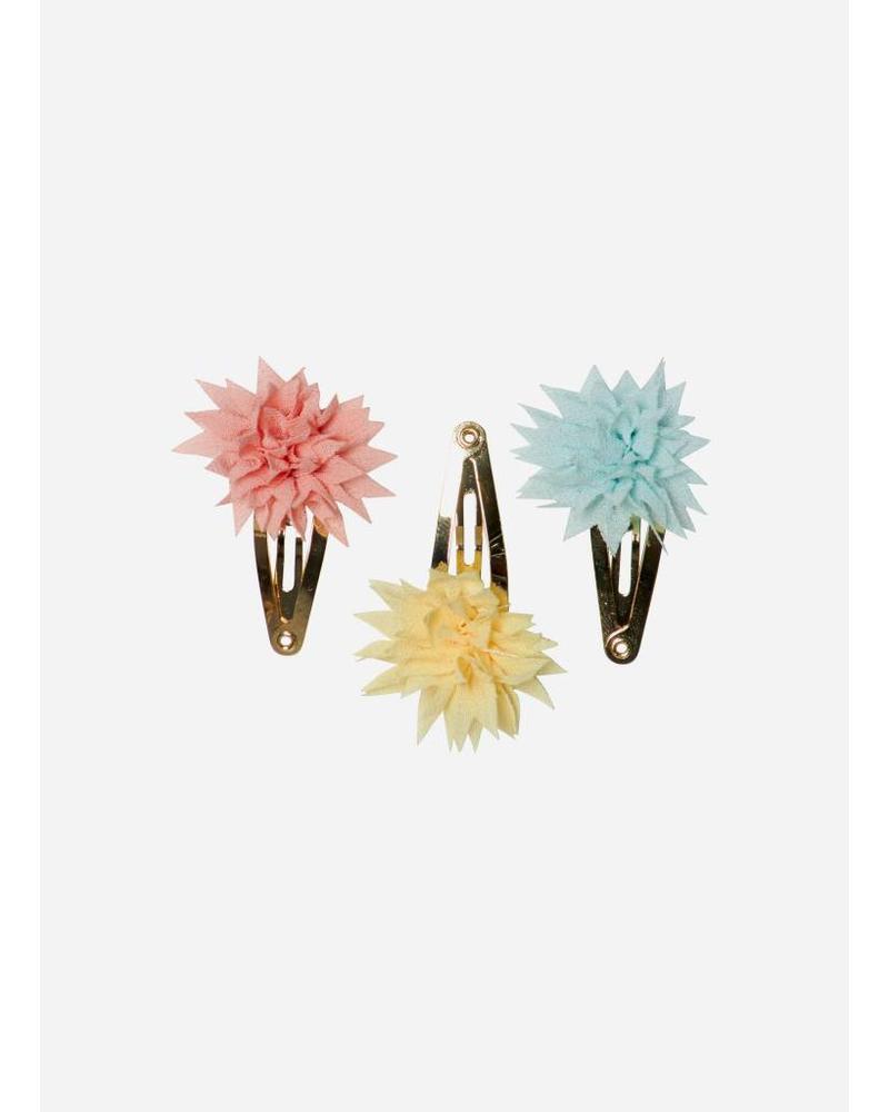 Maileg Dahlia flower clips mini, tricolor summer