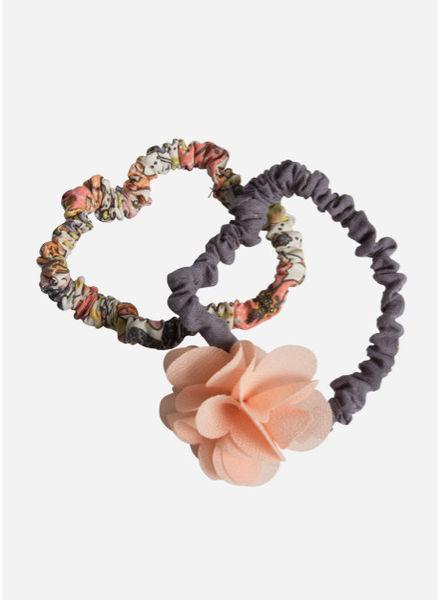Maileg Hair elastics, fluff flower, rose, 2 pcs