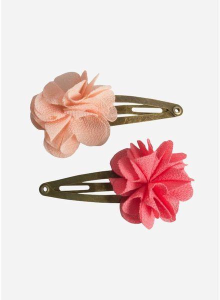Maileg Hair clips, fluff flower, rose, 2 pcs