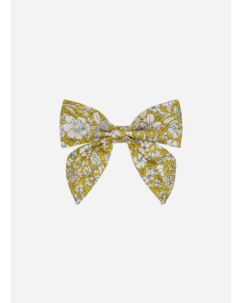 Mimi and Lula pepper printed bow lime