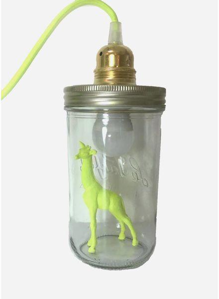 La Tete Le Bocal Lampe Girafe jaune
