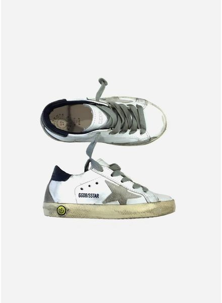 Golden Goose Superstar white blue cream sole
