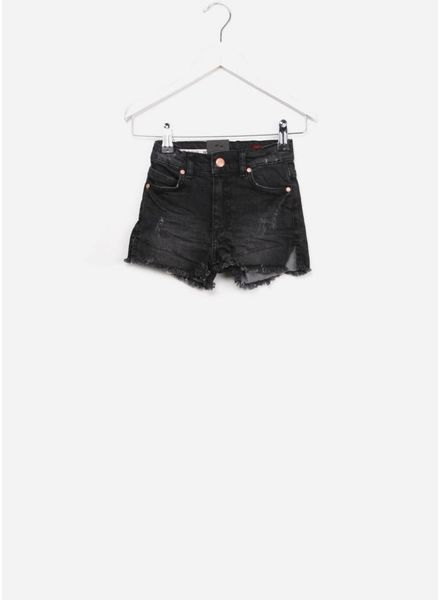 boof lux girl short grey/ black