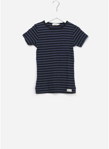 MarMar Copenhagen plain tee ss stripes black/blue