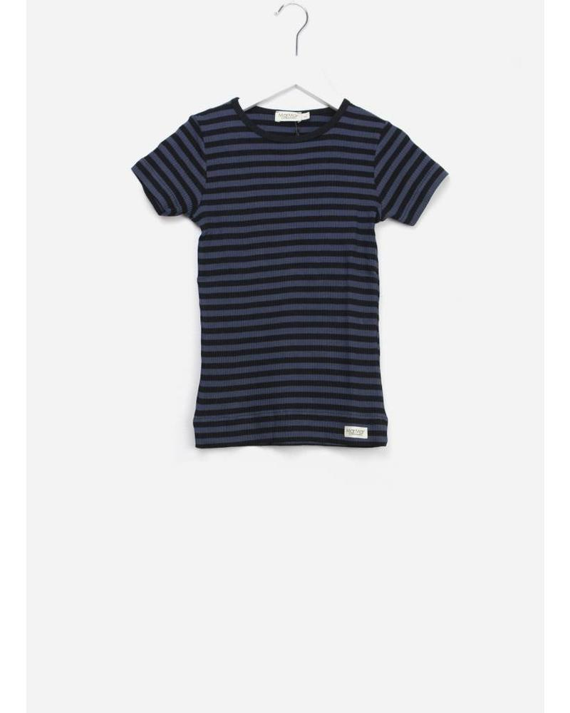 MarMar Copenhagen plain tee ss stripes black/blue