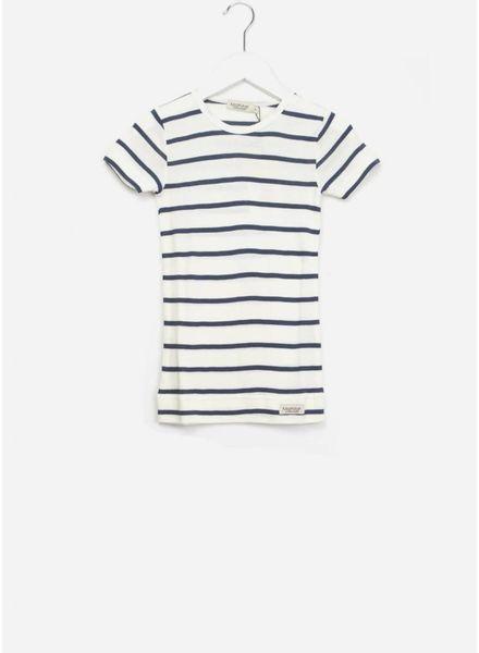 MarMar Copenhagen Plain tee ss stripes gentle white/blue