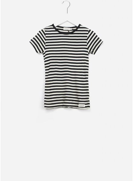 MarMar Copenhagen plain tee ss stripes black/off white