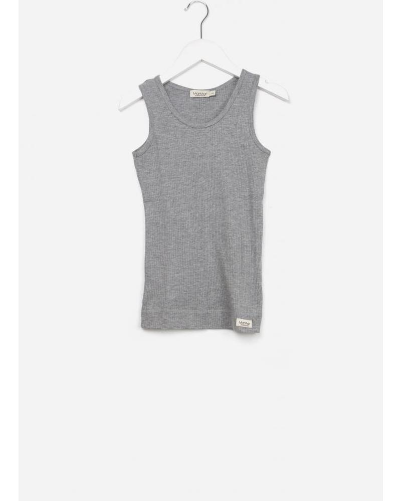 MarMar Copenhagen underwear sleeveless 2-pack grey melange