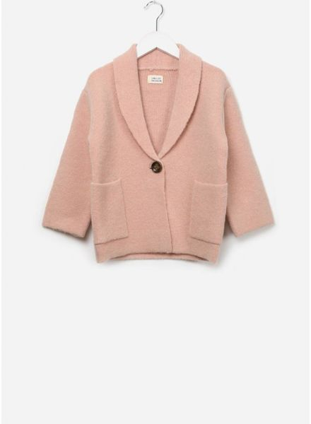 Long Live The Queen Knitted blazer pale pink