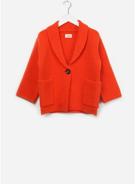 Long Live The Queen Knitted blazer orange