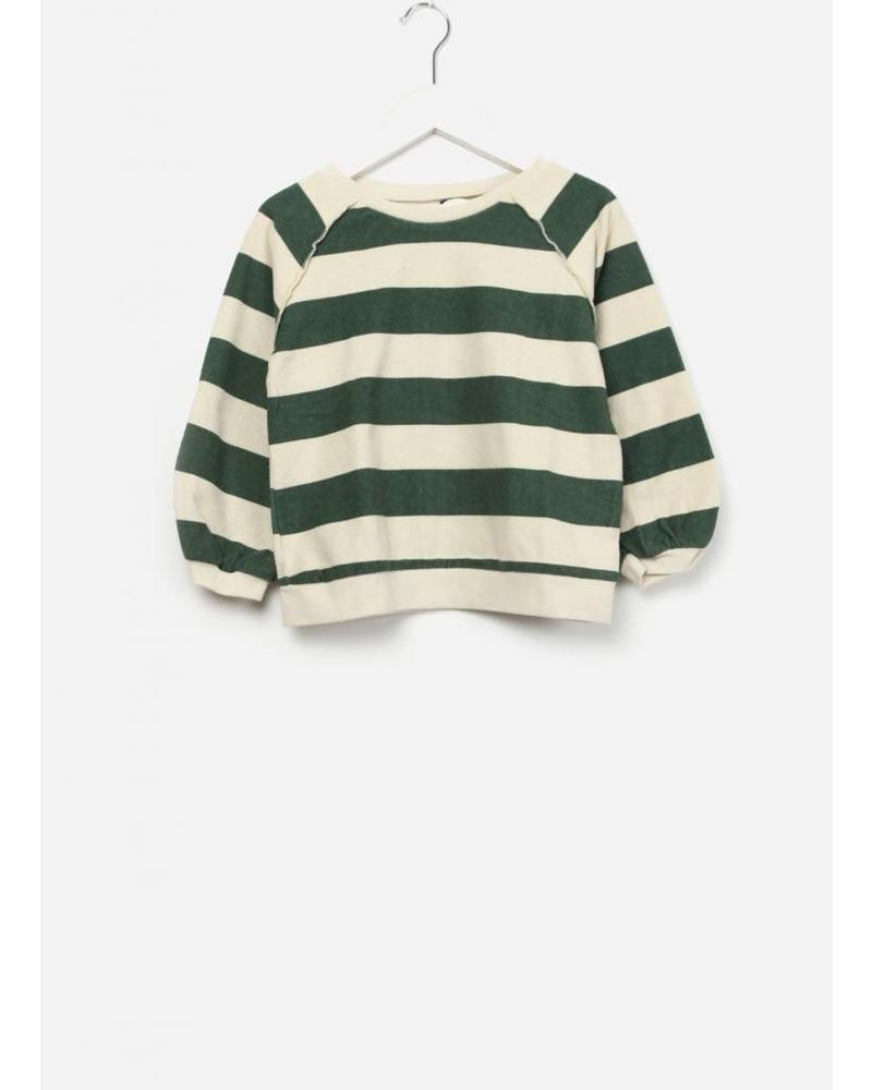 Long Live The Queen Terry sweater green stripe