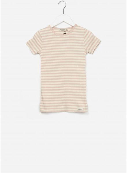 MarMar Copenhagen plain tee ss stripes rose/off white