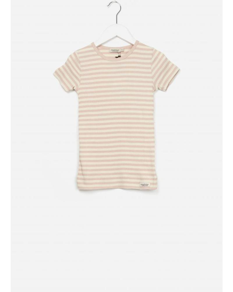 MarMar Copenhagen Plain tee ss stripes rose/off white