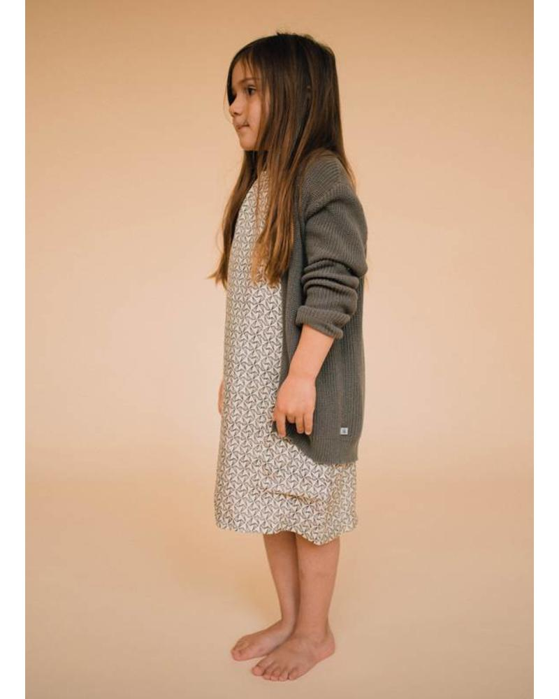 Repose Knit cardigan light grey clay