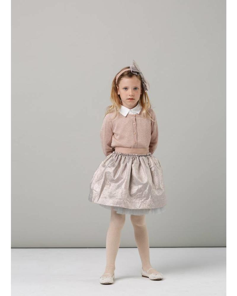 MarMar Copenhagen Sabrine candy wrapper skirt rose gold