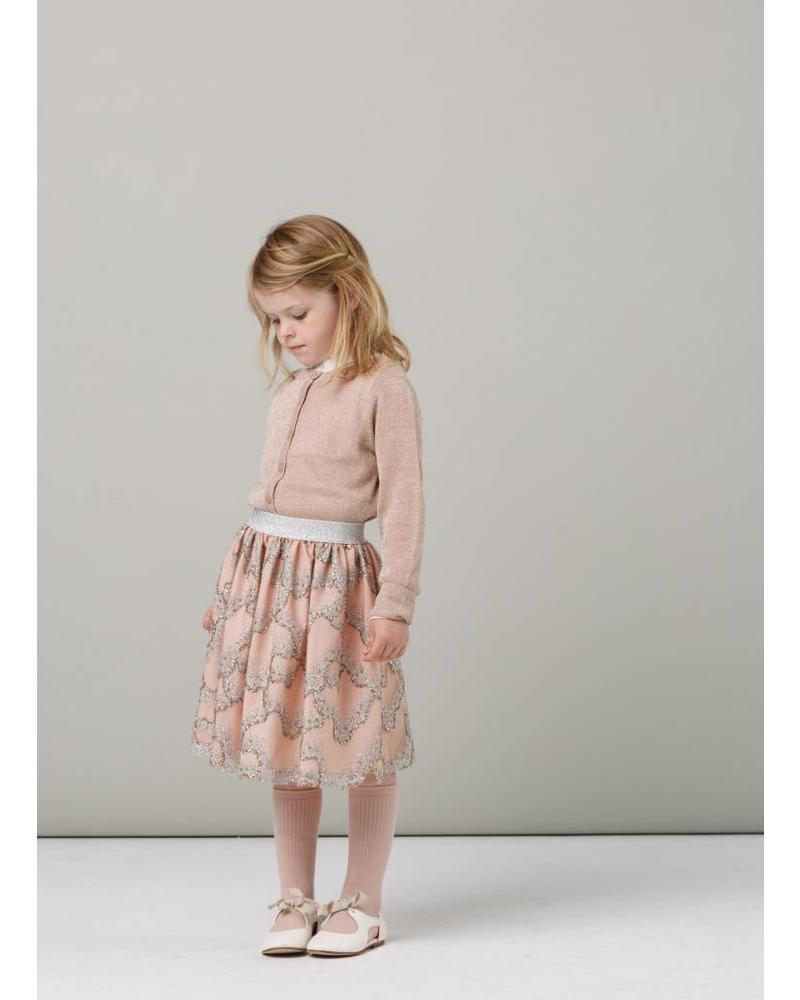 MarMar Copenhagen Tilda lurex knitwear burnt rose glitter